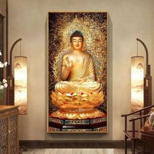 Harga buddha gold statue full round diamond painting 60 x | HARGALOKA.COM
