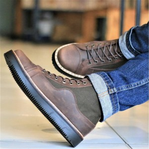 Harga sepatu fashion pria bradleys exodos boots original brown kulit sapi   cokelat   HARGALOKA.COM