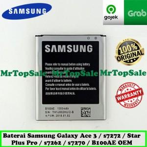 Harga baterai hp samsung star plus pro s7262 s7270 b100ae original 99 | HARGALOKA.COM