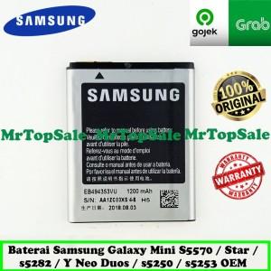 Harga baterai samsung galaxy star s5282 y neo duos s5312 original 99 | HARGALOKA.COM