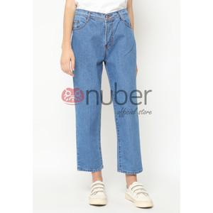 Harga celana panjang jeans boyfriend blue non stretch   fireweed   | HARGALOKA.COM