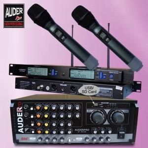 Harga mixer ampli karaoke meeting auderpro ap 804am usb with mic   HARGALOKA.COM
