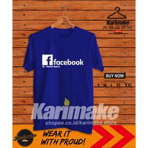 Harga kaos baju facebook bisa pakai nama kamu kaos sosial media   | HARGALOKA.COM