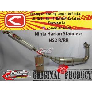 Harga knalpot muffler creampie ninja ns2 stainless original | HARGALOKA.COM