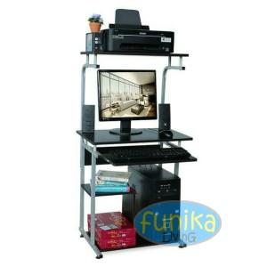 Harga meja komputer meja printer 905 walnut termurah berkualitas tebal kokoh   | HARGALOKA.COM