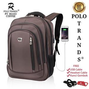 Harga polo trands expandable edition backpack 26l 36103   tas ransel laptop   cokelat | HARGALOKA.COM