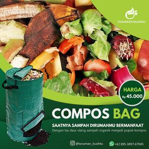 Harga compost bag 80 liter tas daur ulang sampah organik pupuk tanaman | HARGALOKA.COM