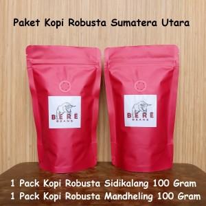 Harga paket kopi robusta sumatera utara 100 gram bubuk biji coffee bean   biji | HARGALOKA.COM