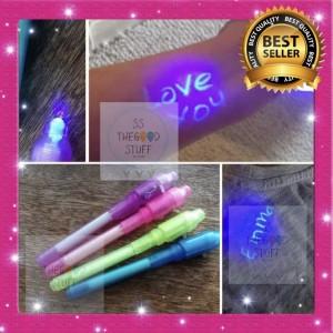 Harga pen uv light pen tembus pandang invisible ink bolpen magic | HARGALOKA.COM