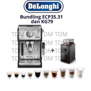 Harga bundling mesin kopi delonghi ecp 35 31 grinder kg   HARGALOKA.COM