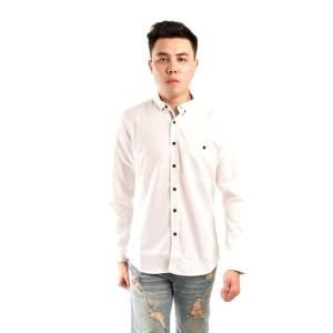 Harga kemeja koko lengn panjang bordir baju muslim pria lengan panjang   putih | HARGALOKA.COM