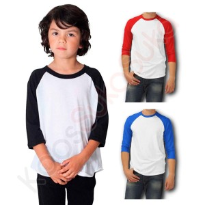 Harga kaos raglan polos 3 4 anak baju bayi balita cotton combed   teen s | HARGALOKA.COM