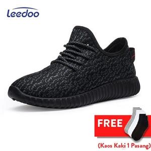 Harga leedoo sepatu sneakers pria sepatu karet pria sepatu casual pria mr207   hitam | HARGALOKA.COM