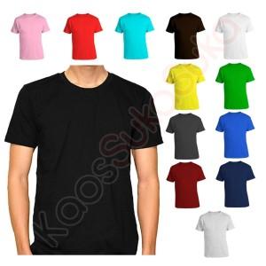 Harga kaos polos dewasa baju pria wanita cotton combed 32s banyak warna     HARGALOKA.COM