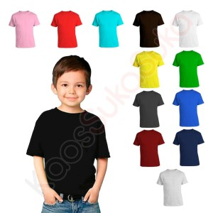 Harga kaos polos anak kid baju bayi balita cotton combed 32s banyak warna   kid | HARGALOKA.COM