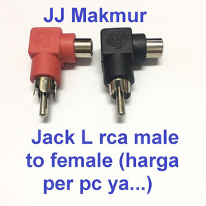 Harga jack rca male to female l connector jek konektor audio speaker | HARGALOKA.COM