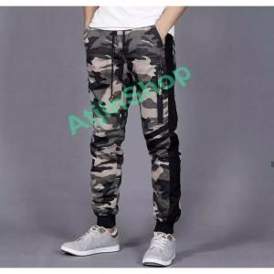 Harga celana joger celana jogger pria tactical army commando pria slim fit   loreng krem | HARGALOKA.COM