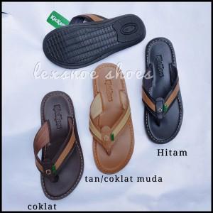 Harga new sandal kulit pria kickers kulit lembut amp trendy   hitam | HARGALOKA.COM