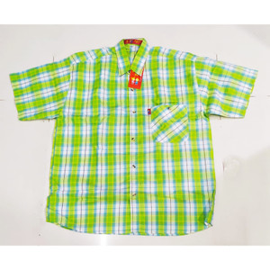 Harga 787 792 15 19 tahun kemeja baju atasan hem pendek anak cowo pria   kuning   HARGALOKA.COM
