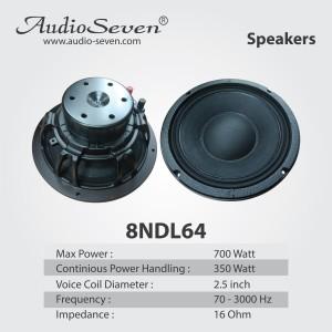 Harga gratis ongkir speaker audioseven 8 ndl 64 8in bukan rcf acr array | HARGALOKA.COM