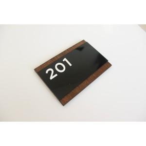 Harga nomor kamar acrylic kayu keren nomor kamar kost | HARGALOKA.COM
