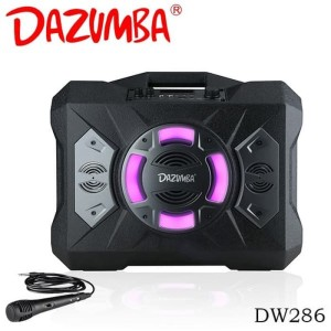 Harga speaker karaoke portable colokan 2 mic ekstra bass dazumba dw286   | HARGALOKA.COM