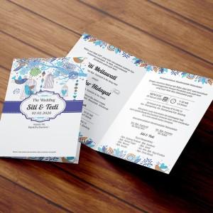 Info Undangan Pernikahan Cantik Biru Dongker Katalog.or.id
