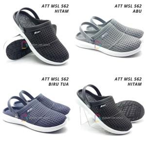 Harga sepatu sandal karet   sepatu sandal pria att 562 varian warna   40 biru | HARGALOKA.COM