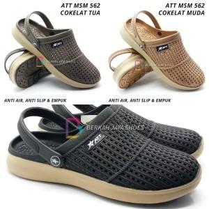 Harga sepatu sandal pria sepatu sandal karet pria att msm 562 varian warna   cokelat tua | HARGALOKA.COM