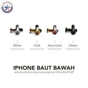 Harga baut bawah iphone 5 5s 6 6s 6 plus 6s plus dua button dock screws   | HARGALOKA.COM