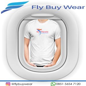 Harga baju kaos t shirt penerbangan air paradise intl maskapai indonesia   putih | HARGALOKA.COM