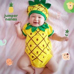 Harga jumper bayi nanas baby jumpsuit pineapple ermon   | HARGALOKA.COM