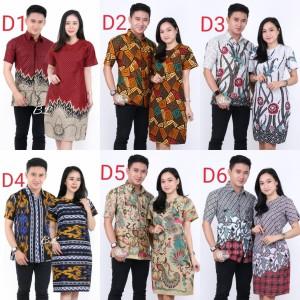 Harga baju batik couple keluarga seragam batik kantor pria dan | HARGALOKA.COM