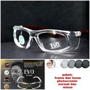 Harga kacamata safety normal dan minus lensa photocromic rubah   HARGALOKA.COM