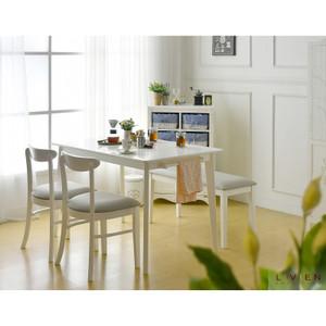 Harga meja makan minimalis set murah nora 1200 livien furniture free ongkir     HARGALOKA.COM