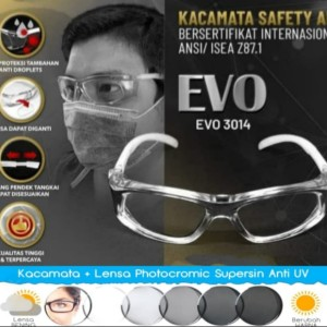 Harga kacamata minus safety prescription frame lensa photokromik normal | HARGALOKA.COM