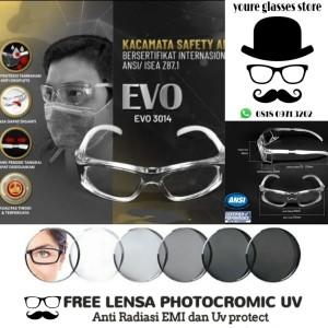 Harga kacamata sport safety free lensa flano minus photocromic   HARGALOKA.COM