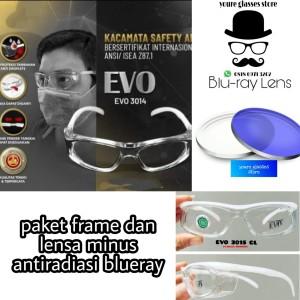 Harga kacamata safety sport pria free lensa normal minus antiradiasi   HARGALOKA.COM