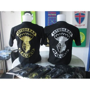 Harga kaos t shirt satu darah maluku gold silver premium high   HARGALOKA.COM
