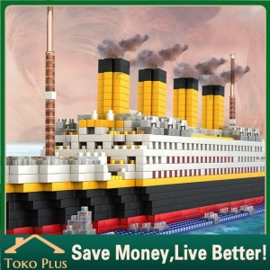 Harga 1860pcs lego titanic model kapal pesiar diy bangunan block mainan | HARGALOKA.COM