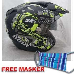 Harga helmet double visor helem ski kuning setara kyt ink gm wto nhk   | HARGALOKA.COM