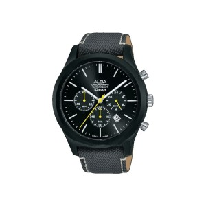Harga jam tangan pria alba chronograph original at3g21 strap nylon | HARGALOKA.COM