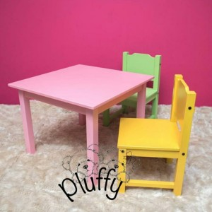 Harga pluffy   meja amp kursi anak set 34 evalia 34 2 kursi | HARGALOKA.COM