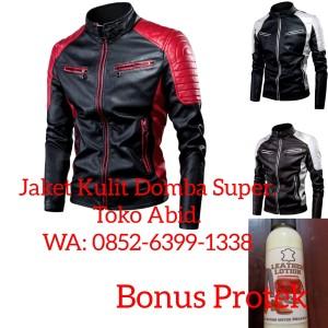 Harga 01 jaket kulit domba super asli garut terbaru jaket motor pria   hitam   HARGALOKA.COM
