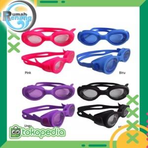 Harga kacamata renang kacamata renang clear bening elastis anti fog anak | HARGALOKA.COM