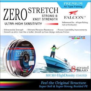 Harga senar pe x8 falcon zero stretch braided pe   putih pe 1 | HARGALOKA.COM