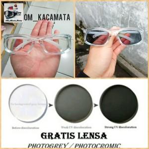 Harga kacamata safety lensa normal dan minus photocromic berubah   HARGALOKA.COM