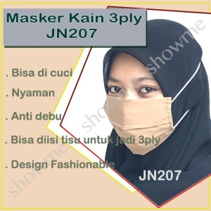 Harga masker kain 3ply hijab katun tebal   n95   masker muka kain   | HARGALOKA.COM