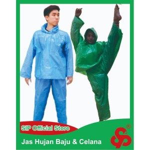 Harga jas hujan plastik jaket celana setelan bambu tebal murah berkualitas | HARGALOKA.COM