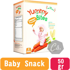 Harga yummy bites baby rice crackers snack bayi biskuit bayi 50 g   | HARGALOKA.COM